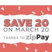 Save 20 on March 20