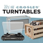 20% Off Crosley Turntables