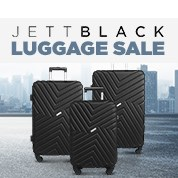 Jett Black Luggage Sale