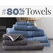 Up To 80% Off Towels Sale