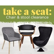 Take A Seat: Chair & Stool Clearance Sale