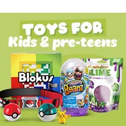 Toys For Kids & Pre-Teens