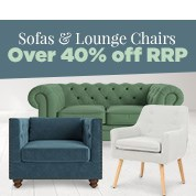 Sofas & Lounge Chairs Over 40% Off RRP