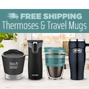 Free Shipping Thermoses & Travel Mugs