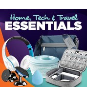 Home, Tech & Travel Essentials
