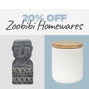 20% Off Zoobibi Homewares