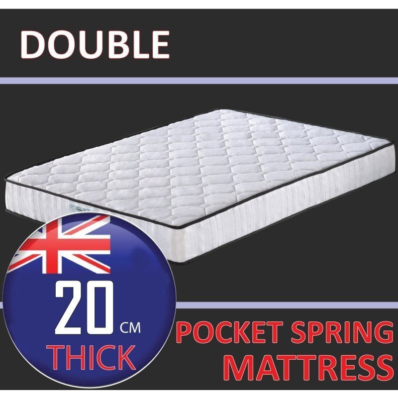 Double Size Damask Pocket Spring Quilted Mattress