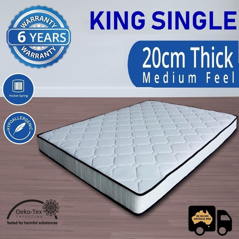Luxury Pocket Spring King Single Mattress 20cm