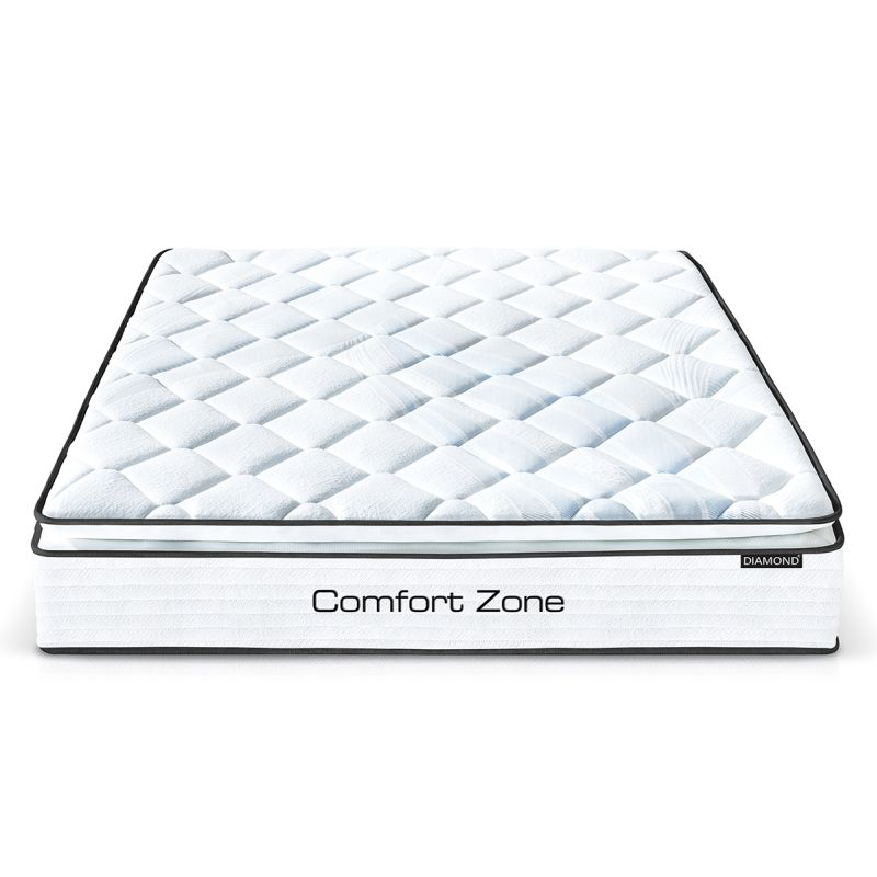 Comfort Zone King Single Latex Spring Mattress 28cm