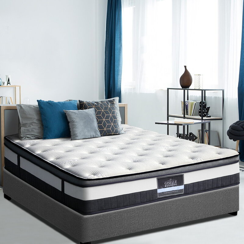 Giselle King Size Euro Top Mattress in White