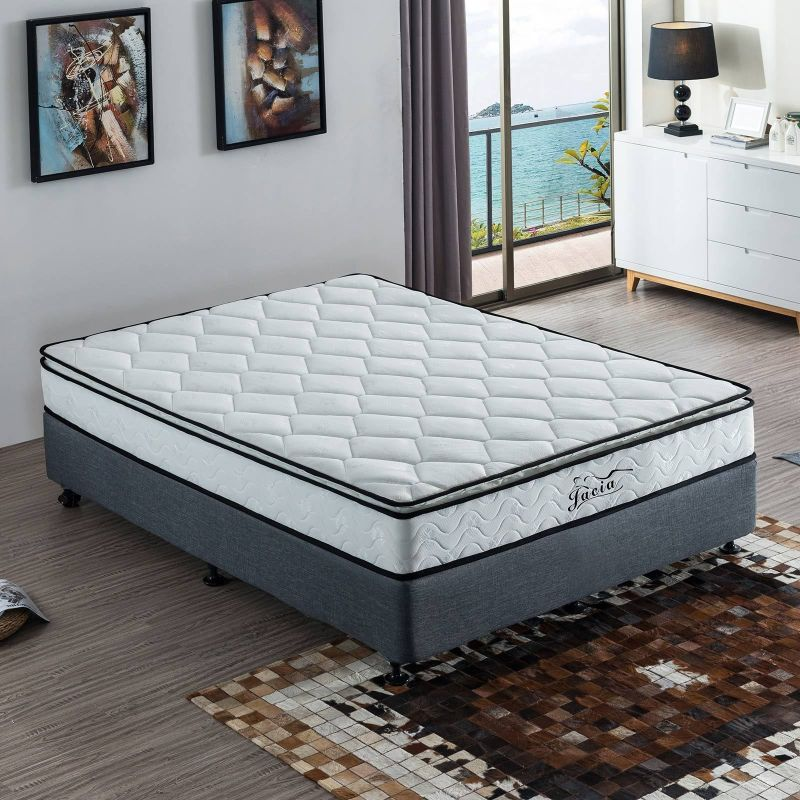 King Size Pillow Top Pocket Spring Foam Mattress