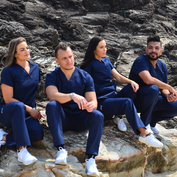 Buy scrubs in uniform bundles and save. Get 1 x Free embroidery in each bundle