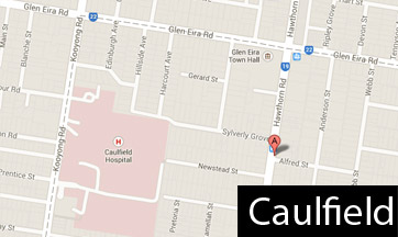 caulfield map