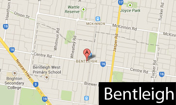 bentleigh map