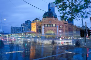 Melbourne. Flinders Station on a Wintery morning