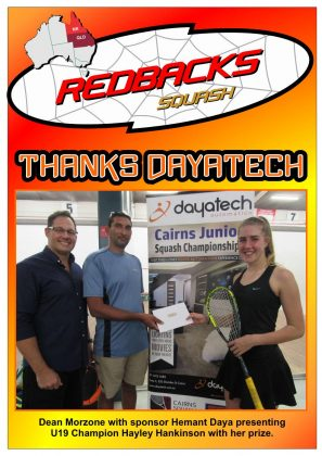 Redbacks Squash Newsletter March 2018