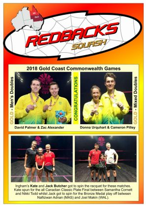 Redbacks Squash Newsletter May 2018