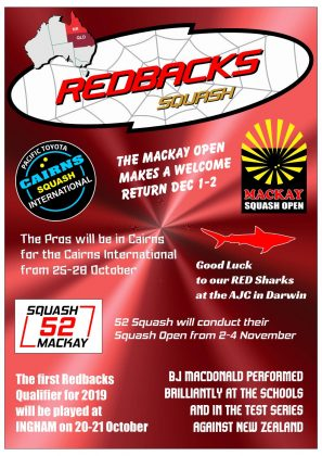Redbacks Squash Newsletter September 2018