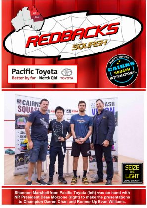 Redbacks Squash Newsletter November 2018