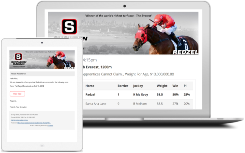 Horse Trainer Communication Software, Syndication, Studs, Mobile App