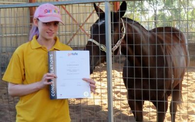 Stable hand Alison White completes course in Equine Studies | ADR