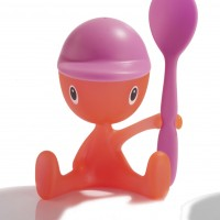 ASG23 Y 'Cico' Egg cup with salt castor and spoon designed by Stefano Giovannoni