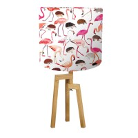 INTERIORS_Flamingos_Hedgehogs_Lampshade_Alice_British_Library