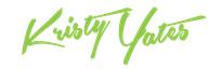 Kristy Yates Signature