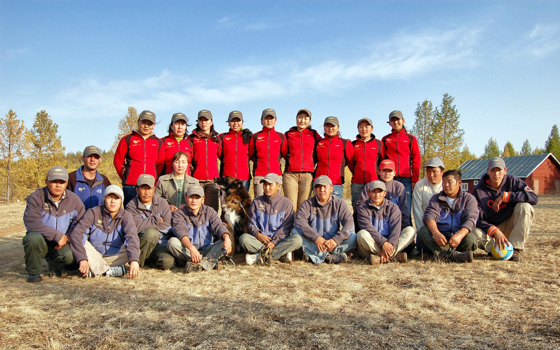 Mongolian Tour Guide Group Photo