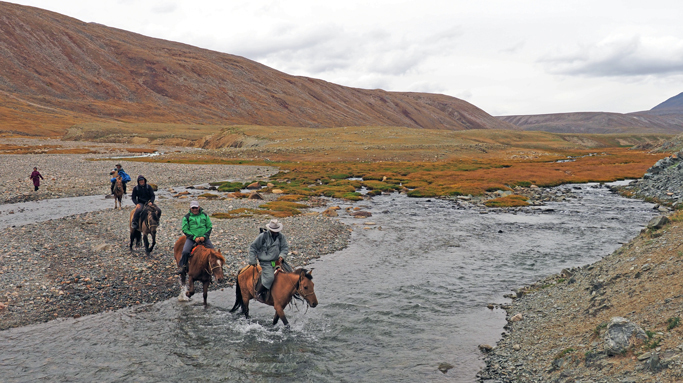Horseback riding tour in Western Mongolia