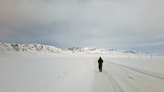 Mountains covered with snow, Western Mongolia