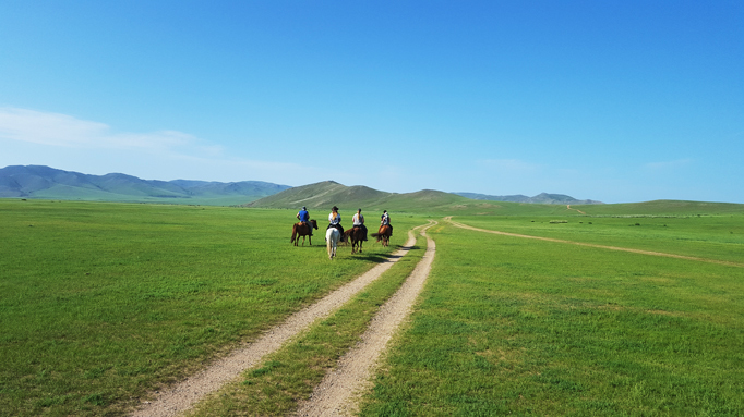 Typical Mongolian steppe