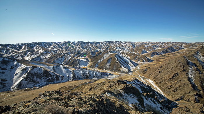 The Gobi desert in winter