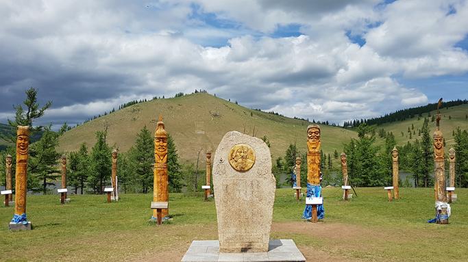 Chinggis Khan stele, Eastern Mongolia