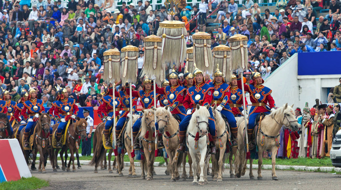 The opening ceremony of Mongolian Naadam festival