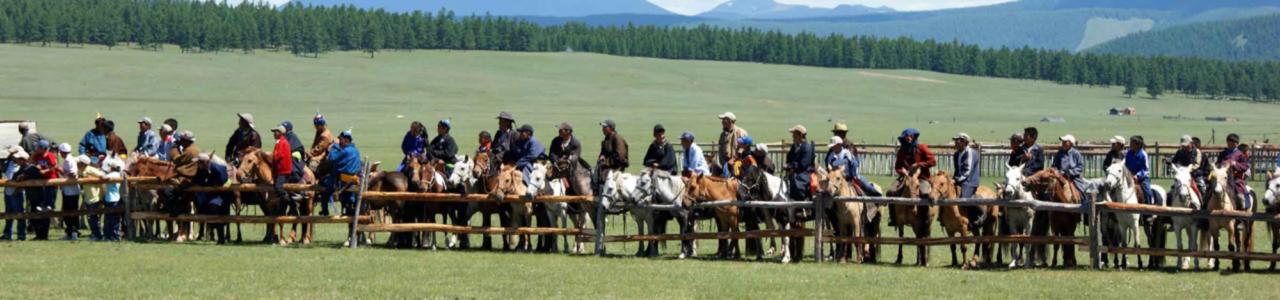 Mongolia Naadam Festival Goers