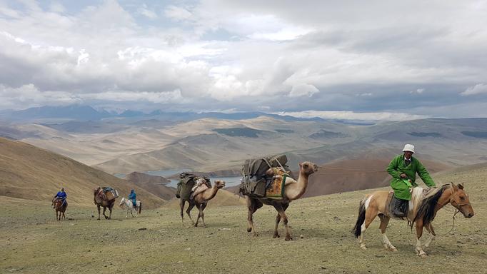 Camel herders, Western Mongolia