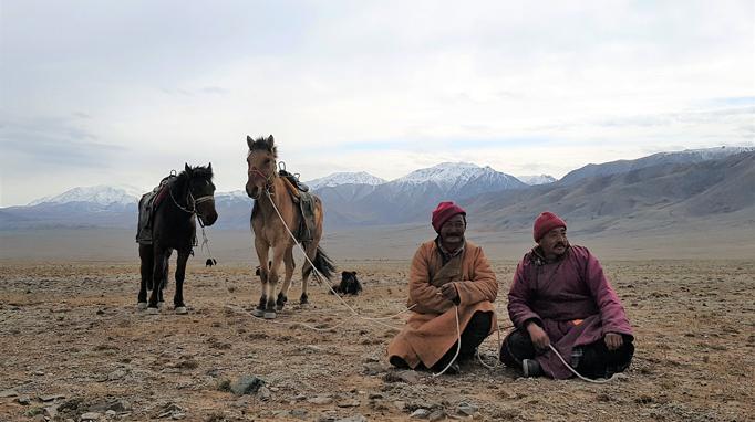 Horse herders, Western Mongolia