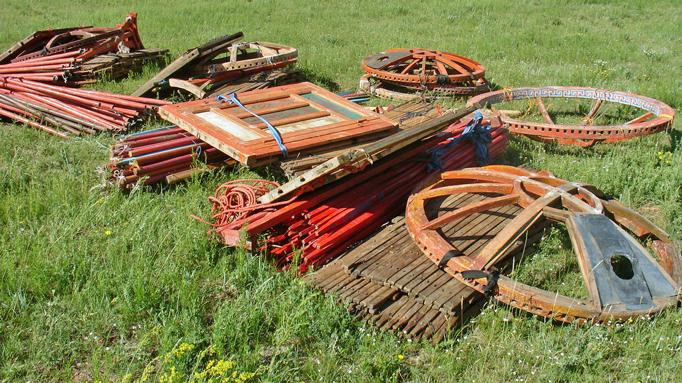 Dismantled Mongolian Ger