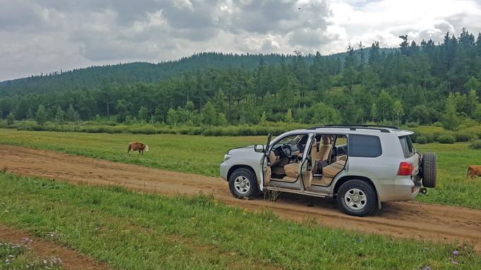 Private trip car, Eastern Mongolia