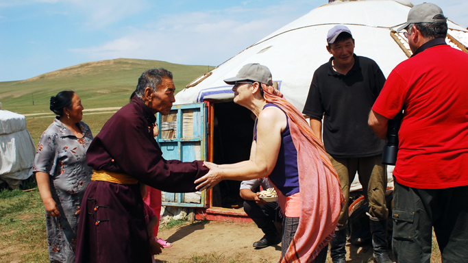 Nomadic family visit, Mongolia