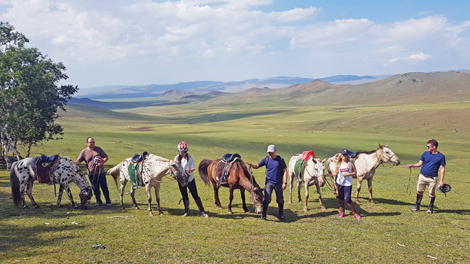 Horseback riding tour in Mongolia