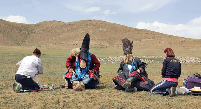 Two Mongolian shamans