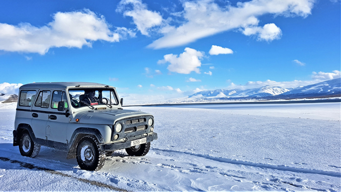 Winter ride, Western Mongolia