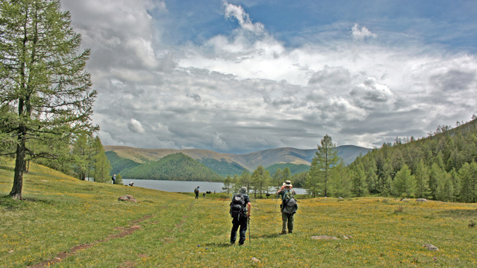Trekking in the Eight lakes, Central Mongolia
