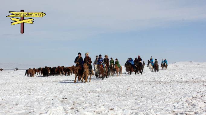 Winter Horse Herders