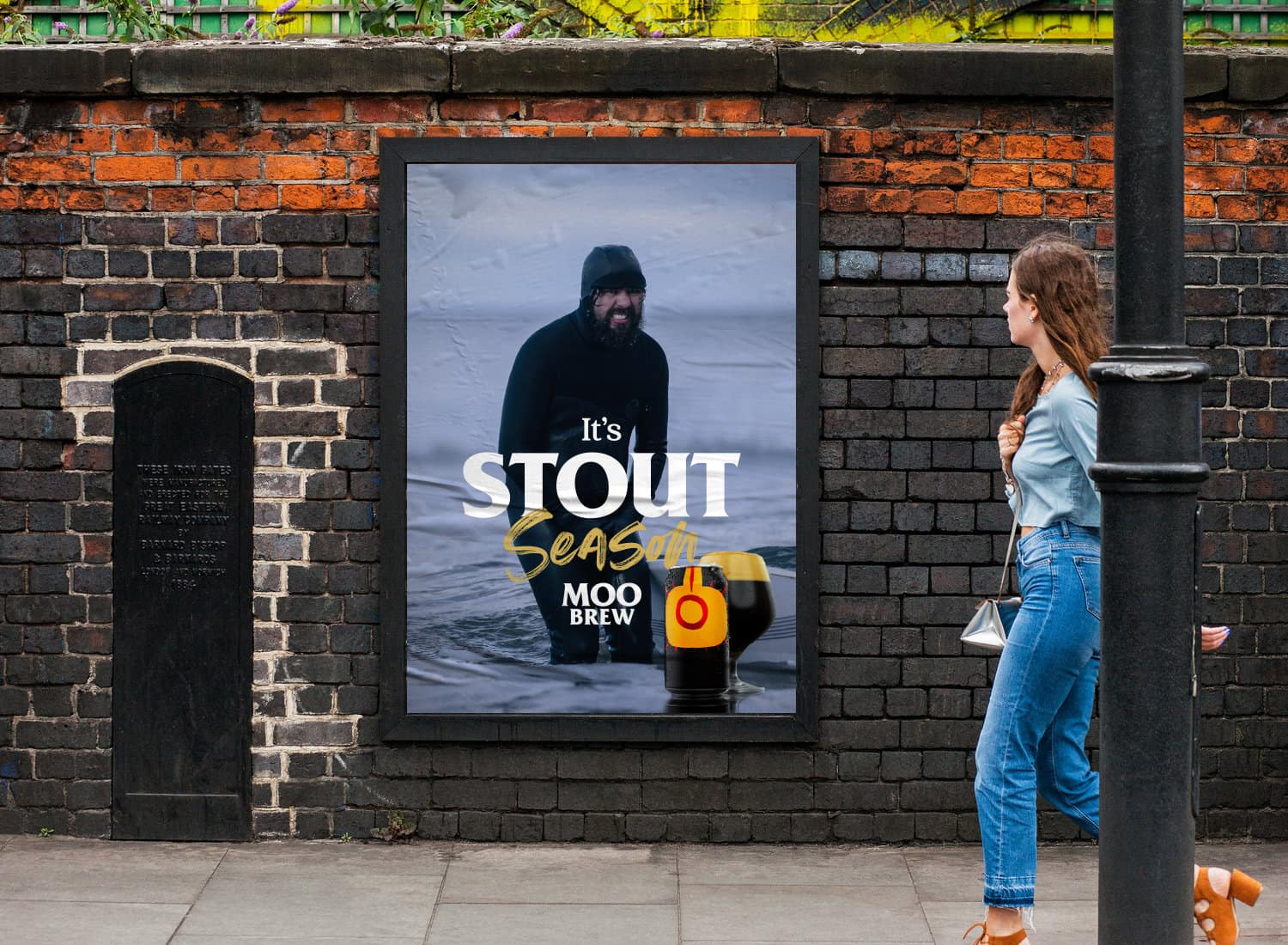 Moo Brew Stout Poster