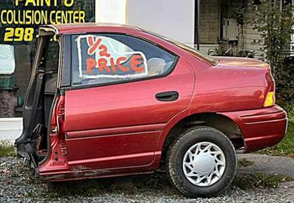 50 percent off on these types of car when transported