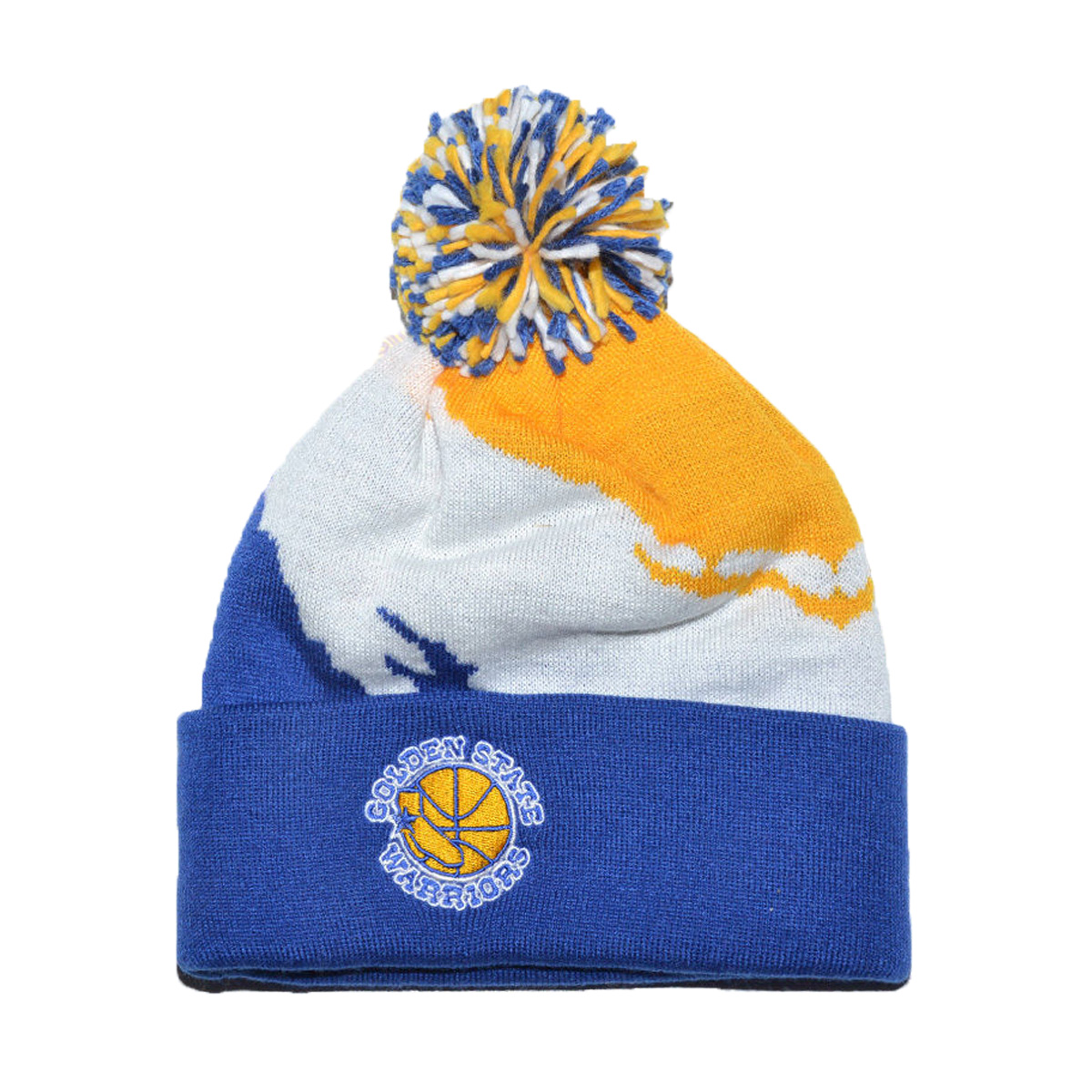 6f3e7d61 Golden State Warriors Gsw Mitchell & Ness Nba Pom Pom Beanie - MyCraze