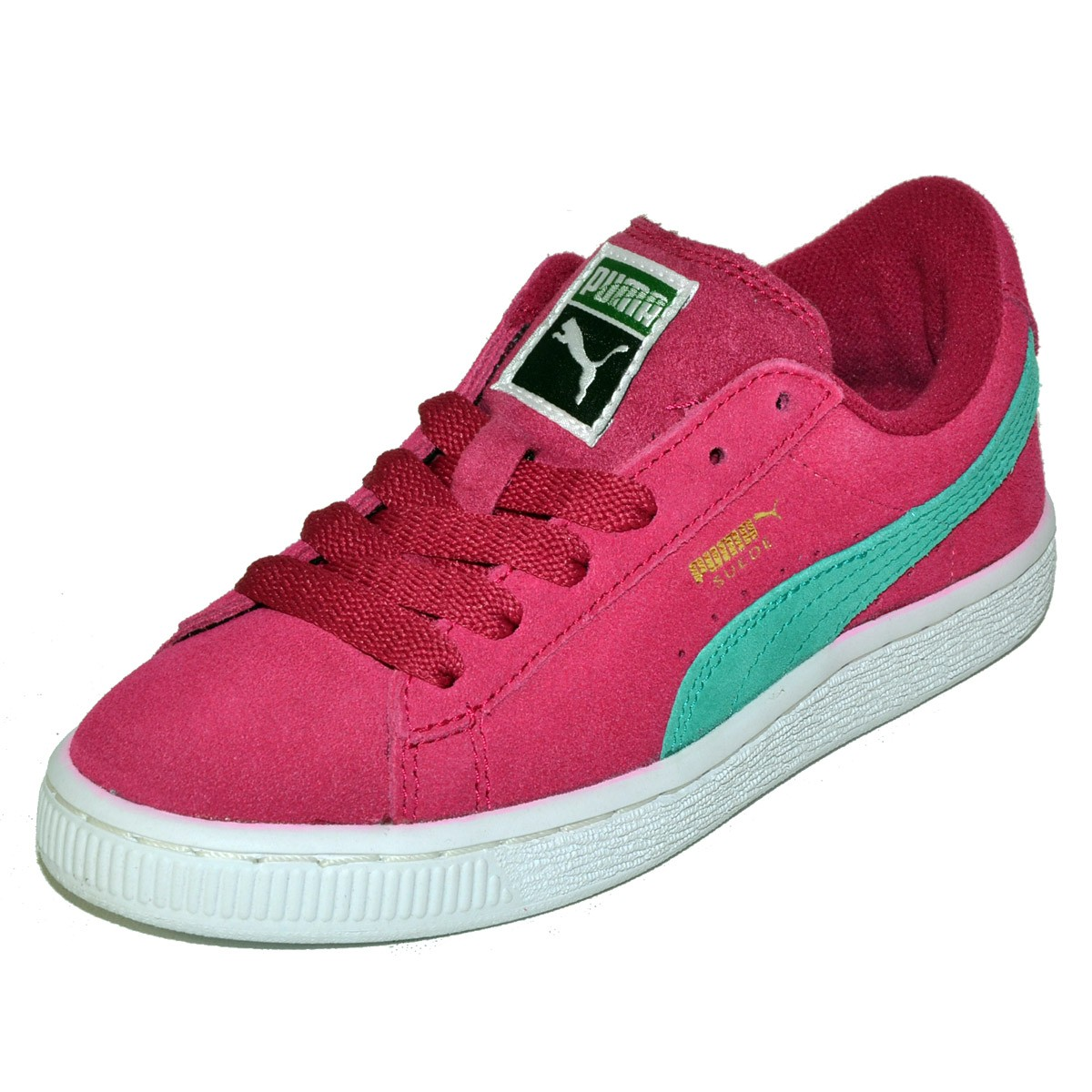 48dc2dcba7cb PUMA Suede Pink JR Junior Youth Big Kids Girls Shoes Sneaker - MyCraze